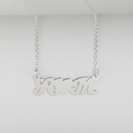 Heart Felt Initials Couples Necklace