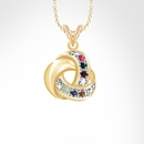 """Love Knot Necklace with 18"""" Link Chain"""