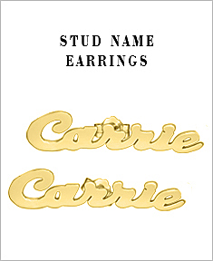 Stud Name Earrings