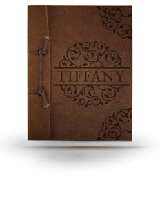 Tiffany Brown Antiqued Leather Note Book