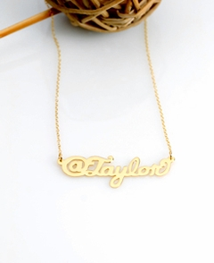 Gold Trendy Sterling @ Name Necklace