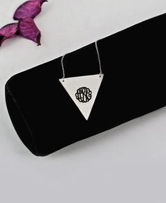Triangle Engraved Monogram Necklace