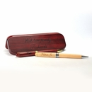Cherry Wood Double Pen Case