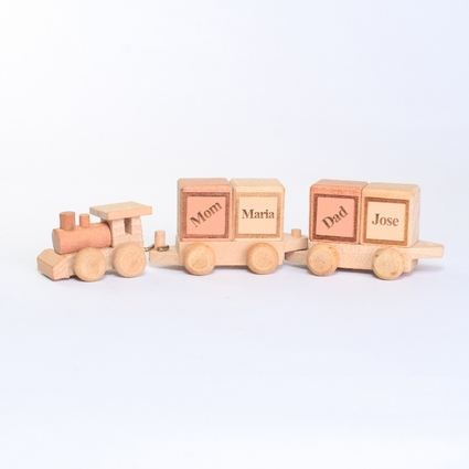Personalized  Family Wooden Train