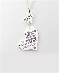 You are just the World Necklace with Initial