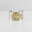 Script Monogram Cuff Bangle