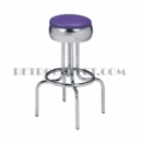 "Model 264-781-46<br>Classic Retro Bar Stool, Bulged Ring Revolving Seat, with Foot Ring<br>24"" or 30"" Height"
