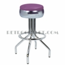 "Model 250-781-46<br>Classic Retro Bar Stool<br>Bulged Ring Swivel Seat; Foot Ring<br>30"" Height"
