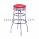 "Model 215-782<br>Classic Retro Bar Stool<br>Grooved Ring Swivel Seat<br>30"" Height"