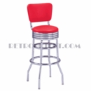 "Model 215-782RB<br>Classic Retro Bar Stool<br>Grooved Ring Swivel Seat w/Back<br>30"" Height"