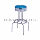Model 264-782<br>Classic Retro Bar Stool, Grooved Ring Swivel Seat,  with Foot Ring