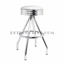 Model 400-49NS<br>Classic Retro Bar Stool, Scalloped Ring Swivel Seat, Pyramid Base and Foot Ring