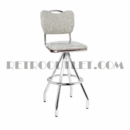 Model 400-921HB<br>Classic Retro Bar Stool, Swivel Seat with Handle-Back and Pyramid Base