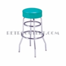 "Model 215-125R<br>Classic Retro Bar Stool<br>Upholstered Swivel Seat<br>30"" Height"
