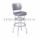"Model 215-531-SH<br>Classic Retro Bar Stool<br>Fully Upholstered with 2"" Seatpad<br>30"" Height"