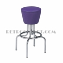 "Model 264-161<br>Classic Retro Bar Stool, Upholstered Swivel Drum Seat, Foot Ring<br>24"" or 30"" Height"