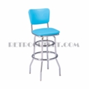 "Model 215-921<br>Classic Retro Bar Stool<br>Upholstered Swivel Seat and Back<br>30"" Height"