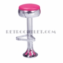 Model 1700-781<br>Classic Retro Counter Stool, Bulged Ring Swivel Seat, Chrome Column, and Tear Drop Base