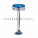 Model 1700-782<br>Classic Retro Counter Stool, Grooved Ring Swivel Seat, Chrome Column, and Tear Drop Base