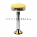 Model 1700-782NX<br>Classic Retro Counter Stool, Scalloped Ring Swivel Seat, Chrome Column, and Tear Drop Base