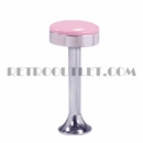 Model 1500-46<br>Classic Retro Counter Stool, Smooth Ring Swivel Seat, Chrome Column