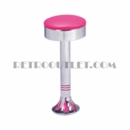 Model 1700-46<br>Classic Retro Counter Stool, Smooth Ring Swivel Seat, Chrome Column, and Tear Drop Base
