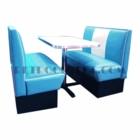Malibu Booth Set<br>2 Benches + Table/Base