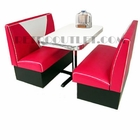 "Vintage Standard ""V"" Booth Set<br>2 Benches + Table/Base"