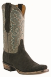 12� Men�s Lucchese Classic Black Sueded Elephant with the Raja Stitch Design L1446