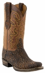 12� Men�s Lucchese Classic Cognac Safari Elephant with the Raja Stitch Design L1445