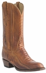 Mens Lucchese Classics Brandy Burnished Ostrich Leg Custom Hand-Made Boots L1448