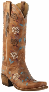 Ladies Lucchese Classic with Cindy Stitch Pattern Destroyed Pearwood Goat L4715