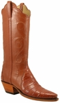 Ladies Lucchese Classics Amber Triad Ultra Crocodile Custom Hand-Made Western Boots L4126