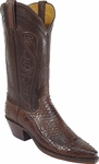 Ladies Lucchese Classics Chocolate Mad Dog Python Custom Hand-Made Boots L4096