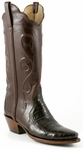 Ladies Lucchese Classics Chocolate Triad Ultra Belly Crocodile Custom Hand-Made Western Boots L4135