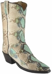 Ladies Lucchese Classics Robin Egg Blue Python Custom Hand-Made Boots L4109