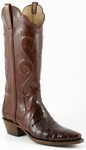 Ladies Lucchese Classics Sienna Triad Ultra Belly Crocodile Custom Hand-Made Western Boots L4134