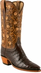 Ladies Lucchese Classics Sienna Ultra Belly Caiman Custom Hand-Made Western Boots L4133