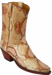Ladies Lucchese Classics Tan Dunes Python Custom Hand-Made Boots L4080