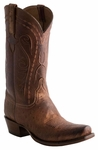 Lucchese Classics Mens Barnwood Burnished Smooth Ostrich Leather Cowboy Boots E2202
