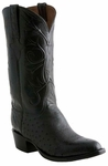 Lucchese Classics Mens Black Smooth Ostrich Custom Hand-Made Boots E2199