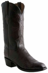 Lucchese Classics Mens Black Cherry Smooth Ostrich Leather Cowboy Boots E2200
