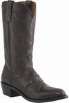 "Lucchese Men's ""Silas"" Black Cherry Lizard Leather Boot M2901"