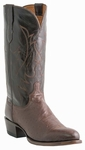 "Lucchese Men's ""Wylie"" Cigar Smooth Ostrich Leather Boot M1602"