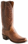 Lucchese Mens Barnwood Burnished Smooth Ostrich Leather Cowboy Boots N9581