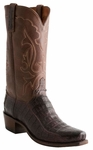 Lucchese Mens Barrel Brown Ultra Caiman Belly Cowboy Boots N9585