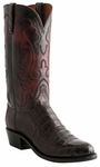 Lucchese Mens Black Cherry Ultra Caiman Belly Cowboy Boots N9582