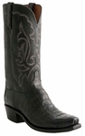 Lucchese Mens Black Ultra Belly Caiman Cowboy Boots N9584