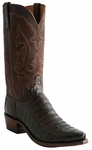 Lucchese Mens Chocolate Ultra Caiman Belly Cowboy Boots N9583