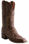 Lucchese Mens Sienna Smooth Ostrich With Saddle Inlay Design CL7963